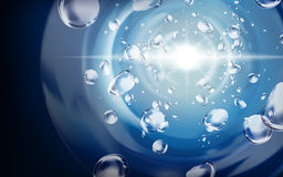 Elementi dell'acqua profonda Fotografia Stock