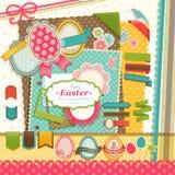 Elementi dell'album di Pasqua. illustrazione di stock