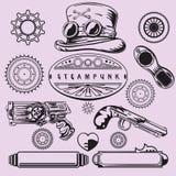 Elementi dell'annata di Steampunk Fotografia Stock