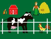 Elementi dell'azienda agricola Fotografia Stock