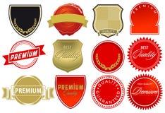 Elementi dell'etichetta di alta qualità Fotografia Stock