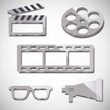 Elementi dell'industria cinematografica cinque Fotografia Stock Libera da Diritti