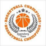 Elementi dell'insieme e di progettazione di logo di campionato di pallacanestro Immagine Stock