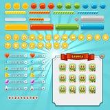 Elementi dell'interfaccia del gioco Fotografia Stock