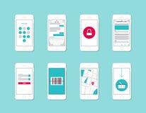 Elementi dell'interfaccia di applicazione di Smartphone Immagini Stock Libere da Diritti