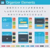 Elementi dell'organizzatore illustrazione di stock
