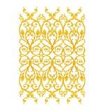 Elementi dell'ornamento, oro d'annata floreale Fotografie Stock Libere da Diritti