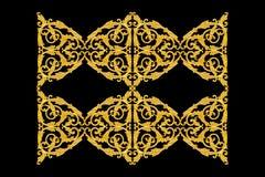Elementi dell'ornamento, oro d'annata floreale Immagine Stock