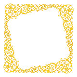 Elementi dell'ornamento, oro d'annata floreale Fotografia Stock