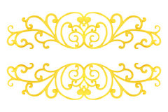 Elementi dell'ornamento, oro d'annata floreale Immagini Stock Libere da Diritti