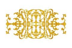 Elementi dell'ornamento, oro d'annata floreale Fotografie Stock