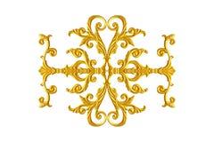 Elementi dell'ornamento, oro d'annata floreale Immagine Stock Libera da Diritti