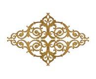 Elementi dell'ornamento, progettazioni floreali dell'oro d'annata Fotografie Stock