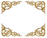 Elementi dell'ornamento, progettazioni floreali dell'oro d'annata Fotografia Stock