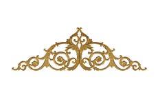 Elementi dell'ornamento, progettazioni floreali dell'oro d'annata Fotografia Stock Libera da Diritti
