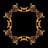 Elementi dell'ornamento, progettazioni floreali dell'oro d'annata Immagine Stock