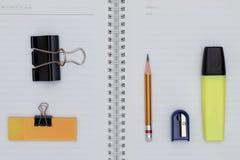 Elementi dell'ufficio ed elementi di affari Immagini Stock