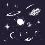 Elementi dell'universo Immagini Stock