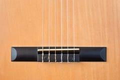 Elementi della chitarra acustica. Fotografie Stock