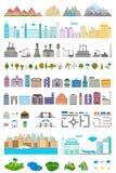 Elementi della città e del villaggio moderni - azione Fotografia Stock