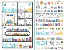 Elementi della città moderna - azione Fotografia Stock