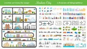 Elementi della città moderna - vettore di riserva Fotografie Stock