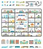 Elementi della città moderna - vettore di riserva Fotografie Stock Libere da Diritti