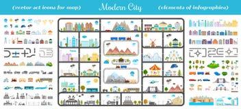 Elementi della città moderna - vettore di riserva Immagine Stock Libera da Diritti