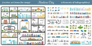 Elementi della città moderna - vettore di riserva Fotografia Stock Libera da Diritti