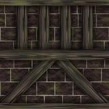 Elementi della costruzione del chalet della struttura di legno Immagini Stock