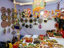 Elementi della decorazione della casa di Diwali in negozio immagine stock