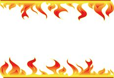 Elementi della decorazione del fuoco Fotografia Stock Libera da Diritti