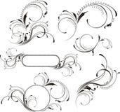 Elementi della decorazione della pagina illustrazione di stock