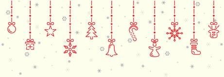 Elementi della decorazione di Natale immagini stock libere da diritti
