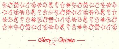 Elementi della decorazione di Natale fotografia stock