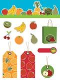 Elementi della frutta Fotografia Stock