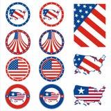 Elementi della maglietta di U.S.A. Immagine Stock