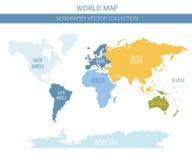 Elementi della mappa di mondo Sviluppi il vostro proprio collec del grafico di informazioni di geografia illustrazione vettoriale
