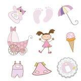 Elementi della neonata impostati nel formato di vettore Fotografie Stock