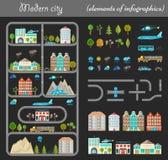 Elementi della notte della città Fotografie Stock