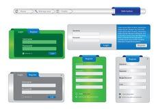 Elementi della pagina di disegno di Web Fotografie Stock