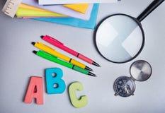 Elementi della scuola Fotografia Stock