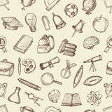 Elementi della scuola del disegno a mano libera Fotografie Stock
