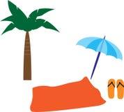 Elementi della spiaggia Fotografia Stock Libera da Diritti