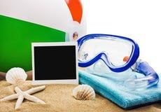 Elementi della spiaggia isolati Immagini Stock Libere da Diritti