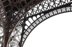 Elementi della torre Eiffel su un fondo bianco immagine stock