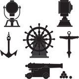 Elementi delle navi antichissime illustrazione vettoriale
