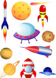 Elementi dello spazio cosmico Immagini Stock