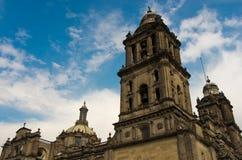 Elementi di bella cattedrale su Zocalo, Città del Messico Fotografia Stock