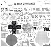 Elementi di Black&white Fotografia Stock Libera da Diritti